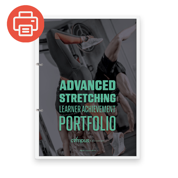 Advanced Stretching Learner Achievement Portfolio - Printed