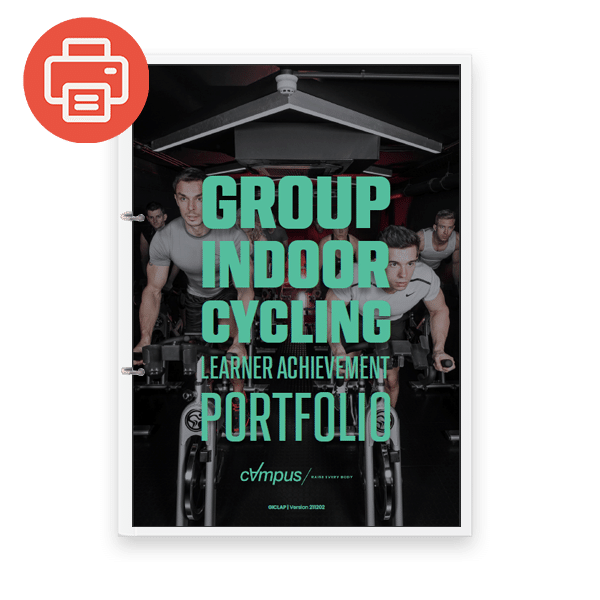Group Indoor Cycling Learner Achievement Portfolio - Printed