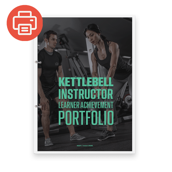 Kettlebell Instructor Learner Achievement Portfolio - Printed