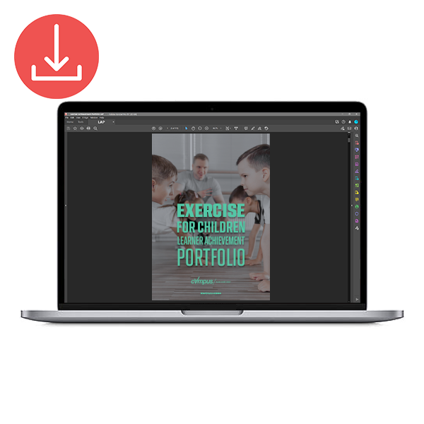 Fitness Instructing Exercise and Physical Activity for Children Learner Achievement Portfolio - Printed