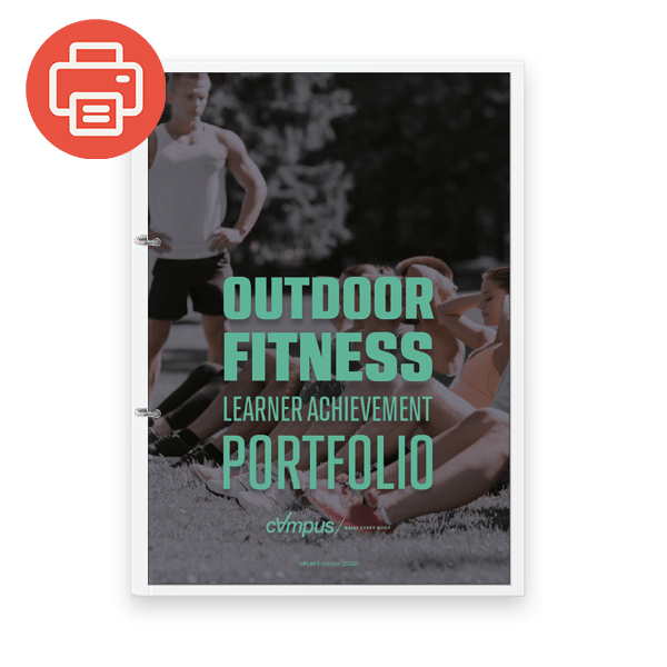 Outdoor Fitness Learner Achievement Portfolio - Printed