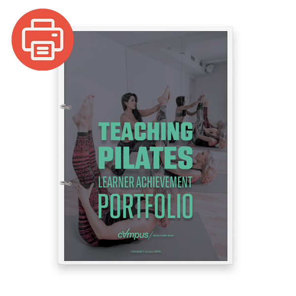 Pilates Instructor Learner Achievement Portfolio - Printed