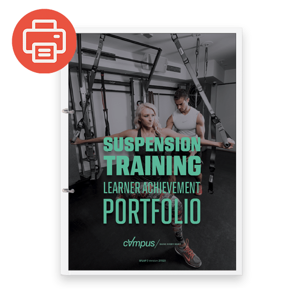 Suspension Fitness Learner Achievement Portfolio - Printed