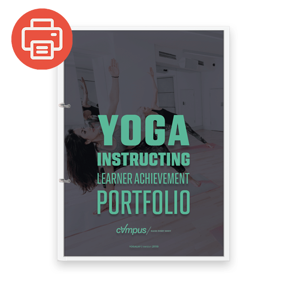 Yoga Instructor Learner Achievement Portfolio - Printed